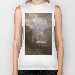 Rocky Mountains, Lander's Peak by Albert Bierstadt Biker Tank