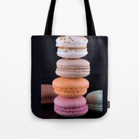 macaroons Tote Bags featuring Macaroons  by Michael P. Moriarty