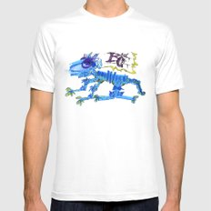 The Blue Cat Mens Fitted Tee MEDIUM White