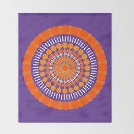 Rough Orange Mandala Throw Blanket