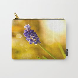 Beautiful Spring Muscari Bokeh background  #decor #society6 #homedecor Carry-All Pouch