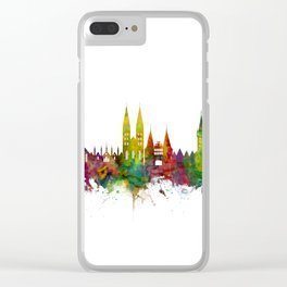 Lubeck Germany Skyline Clear iPhone Case
