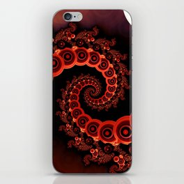 Red Octopus Tentacles for a Chinese Lantern Festival iPhone Skin