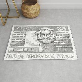 Karl Marx 35p stamp (former GDR/DDR)  Rug