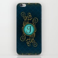 monogram iPhone & iPod Skins featuring Monogram J by Britta Glodde