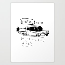 OFF TO BROOKLYN Art Print