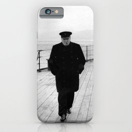 Winston Churchill At Sea iPhone Case