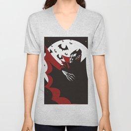 evil vampire in the night Unisex V-Neck