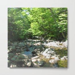 Watercolor Landscape, Cape Breton 22, Nova Scotia, Canada Metal Print