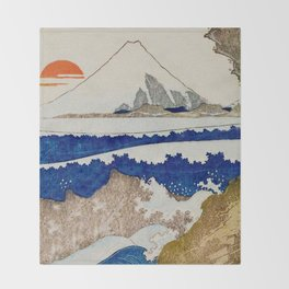 The Coast Searching Throw Blanket