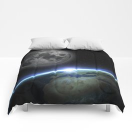 Earth and moon Comforters