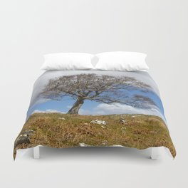 A single tree, Dumfries and Galloway Duvet Cover