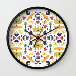 Crown Folk Wall Clock