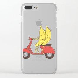 go bananas! Clear iPhone Case