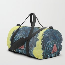 Chester the Black Fluffy Dog Duffle Bag