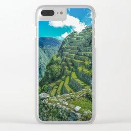 Terraces of Macchu Pichu City, Cusco - Peru Clear iPhone Case