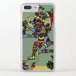 Quetzalcoatl Clear iPhone Case