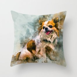 Chihuahua Art Throw Pillow