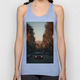 HOLLYWOOD Life, Sunset and Palm Trees Unisex Tank Top