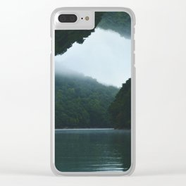 Throwing Flips on the Lake Clear iPhone Case