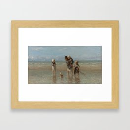 Children of the Sea, Jozef Israëls (1872) Framed Art Print
