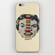Are You People? iPhone & iPod Skin