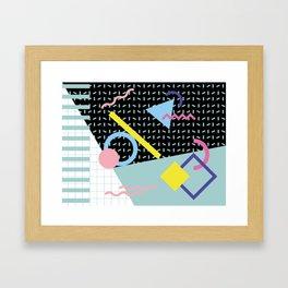 Memphis Pattern 6 - 80s - 90s - Retro Framed Art Print