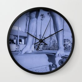 skateboard blue Wall Clock