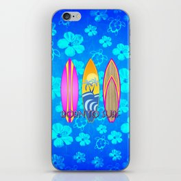 Born To Surf Blue Honu iPhone Skin