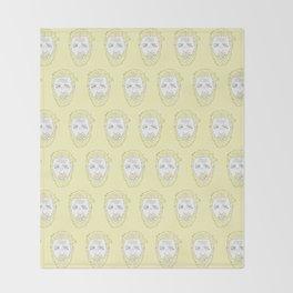 Yellow Hardy Throw Blanket