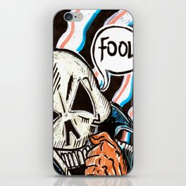 skull foolery iPhone Skin