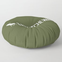 Saskatchewan Moose Floor Pillow