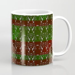 Foil Flower in Red and Green Coffee Mug