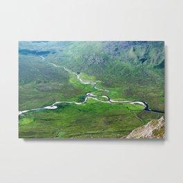 Highland Mountain Rivers Metal Print