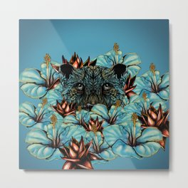 The Tiger and the Flower Metal Print