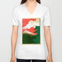 japan V-neck T-shirts featuring japan by barmalisiRTB