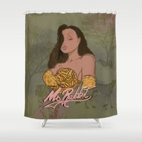 """lebron Shower Curtains featuring """"Ms. Rabbit""""  by SaintCastro"""