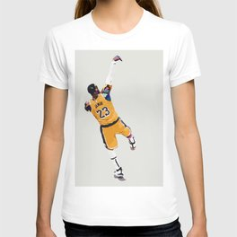 LeBron King James Abstract Digital Basketball Player Graphic Design / Game Over T-shirt