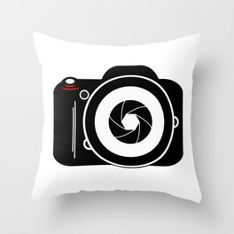 Camera for Photographer Throw Pillow