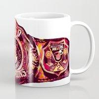 nba Mugs featuring NBA CHAMPIONSHIP BELT by mergedvisible