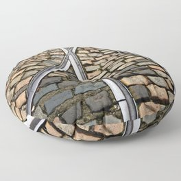 Rails and Cobbles Floor Pillow