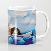 caleb troy Mugs featuring Troy Marinera ~ Sailor by Marivi Troy
