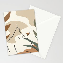 Abstract Female Body Line Art Stationery Cards