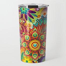 floral Travel Mug
