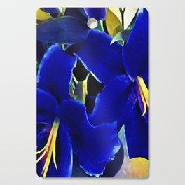 Blue Lilies Cutting Board