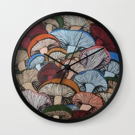 Colorful Mush Wall Clock