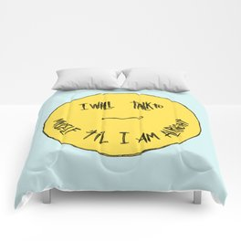 YELLOW OSTRICH Comforters