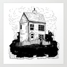 A House in Newfoundland Art Print