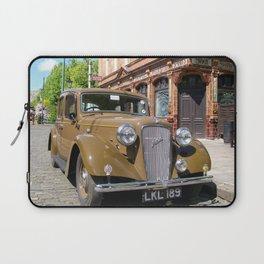 Vintage car and English Pub Laptop Sleeve