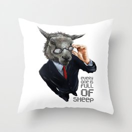 Full Of Sheep Throw Pillow